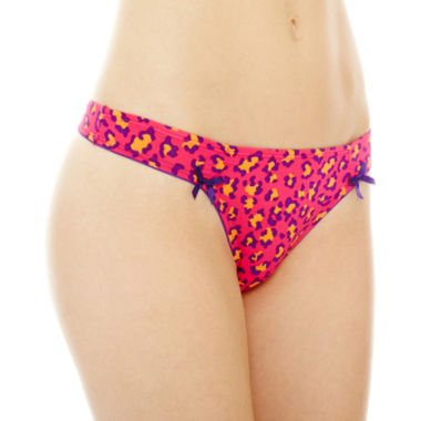 jcpenney.com | Flirtitude® Ruched Microfiber Thong Panties