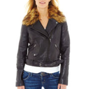 Worthington® Leather Moto Jacket