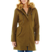 Liz Claiborne Faux-Fur Trim Hooded Parka