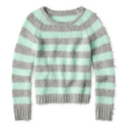 Total Girl® Striped Sweater - 6-16 and Plus