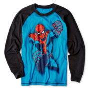 Spider-man Long-Sleeve Raglan Graphic Tee – Boys 6-18