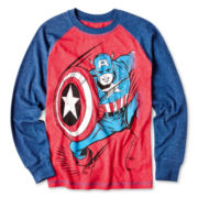 Captain America Long-Sleeve Raglan Graphic Tee – Boys 6-18