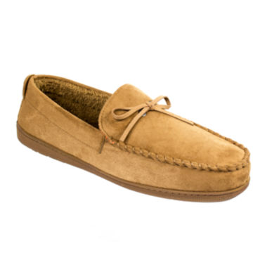 jcpenney.com | Dockers® Boater-Style Moccasin Slippers–Extended Sizes