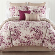 Liz Claiborne® Plum Garden 4-pc. Comforter Set & Accessories