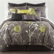 Home Expressions™ Draper Floral 10-pc.Comforter Set & Accessories