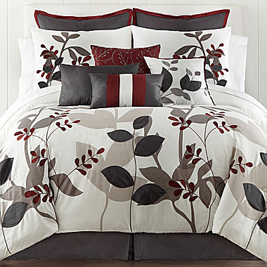 Cheap Home Expressions Marissa Floral 10 Pc Comforter