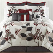 Home Expressions™ Marissa Floral 10-pc. Comforter Set & Accessories