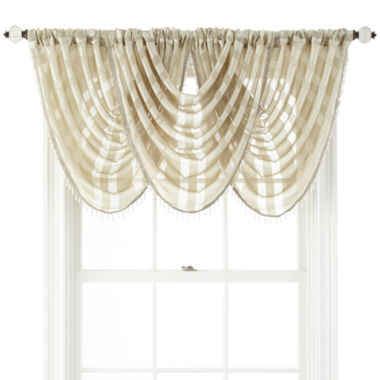 jcpenney.com | Royal Velvet® Cherise Rod-Pocket Sheer Waterfall Valance