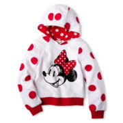 Disney Collection Red Minnie Mouse Fleece Jacket – Girls 2-10