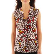 Worthington® Short-Sleeve Mesh Top