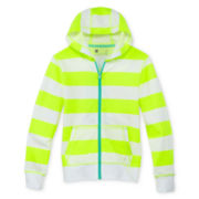 Xersion™ Striped French Terry Hoodie - Girls 6-16 and Plus