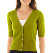 Worthington® Elbow-Sleeve Cardigan Sweater