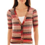 Worthington® Elbow-Sleeve Cardigan Sweater