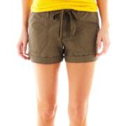jcp™ Cuffed Poplin Drawstring Shorts