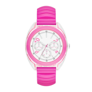 jcpenney.com | Womens Multifunction-Look Silicone Expansion Strap Watch