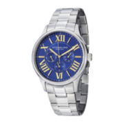 Stührling® Original Mens Blue Dial Stainless Steel Watch