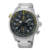 Seiko® Prospex Mens Stainless Steel Solar Chronograph Sport Watch SSC369