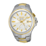 Seiko® Coutura Mens Two-Tone Stainless Steel Kinetic Retrograde Watch SRN064