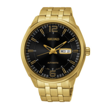 jcpenney.com | Seiko® Recraft Mens Gold-Tone Stainless Steel Automatic Watch SNKN48