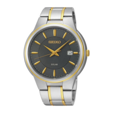 jcpenney.com | Seiko® Mens Two-Tone Stainless Steel Solar Watch SNE404