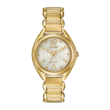 jcpenney.com | Citizen® Eco-Drive® Womens Gold-Tone Stainless Steel Bracelet Watch FE2072-89A