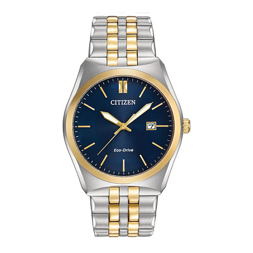 Citizen® Eco-Drive® Corso Mens Two-Tone Stainless Steel Watch BM7334-58L