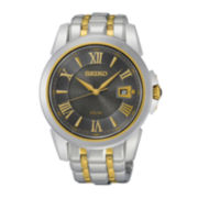 Seiko® Le Grand Sport Mens Two-Tone Stainless Steel Solar Sport Watch SNE398