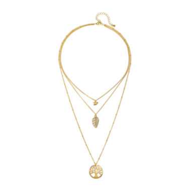 jcpenney.com | Mixit™ Three-Row Pendant Necklace