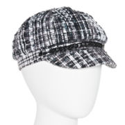 Bouclé Plaid Newsboy Hat