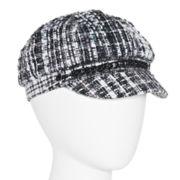 Bouclé Plaid Newsboy Hat