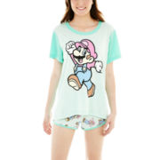 Nintendo® Mario Short-Sleeve Tee and Boxer Pajama Set