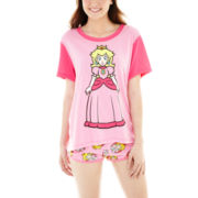 Nintendo® Princess Peach Short-Sleeve Tee and Boxer Pajama Set
