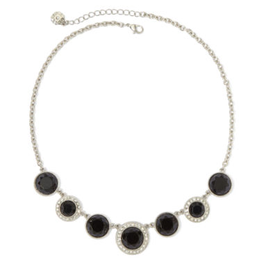 jcpenney.com | Monet® Multicolor Crystal Silver-Tone Frontal Necklace