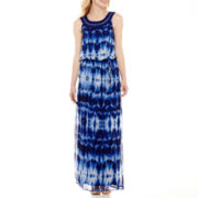 Studio 1® Sleeveless Tie-Dyed Maxi Dress
