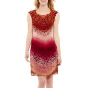 Studio 1® Sleeveless Hardware Tiered Dress