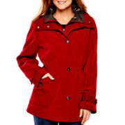 Miss Gallery Snap-Front Stadium Jacket - Petite