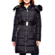 a.n.a® Faux Fur-Trimmed Belted Stroller Jacket