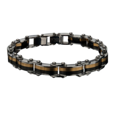 jcpenney.com | Inox® Mens Two-Tone Stainless Steel Link Bracelet