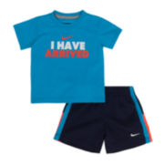 Nike® Arrived Tee and Shorts Set - Baby Boys 12m-24m