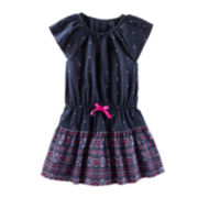 OshKosh B'gosh® Navy Print Dress - Preschool Girls 4-6x