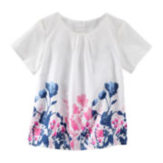 OshKosh B'gosh® Floral Print Woven Top  - Preschool Girls 4-6x