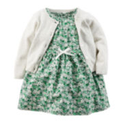 Carter's® Dress and Cardigan - Baby Girls newborn-24m