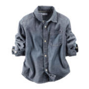 Carter's® Woven Chambray Shirt - Baby Boys newborn-24m