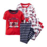 Carter's® 4-pc. Fire Truck Pajama Set - Preschool Boys 4-7