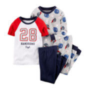 Carter's® 4-pc. Baseball Pajama Set - Preschool Boys 4-8