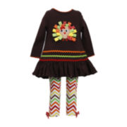 Bonnie Jean® Turkey Tunic and Leggings - Toddler Girls 2t-4t