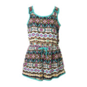 Pinky Tribal-Print Romper - Toddler Girls 2t-4t