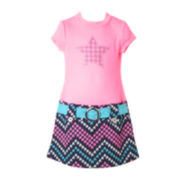 Pinky Chevron Star Marsha Dress - Preschool Girls 4-6x