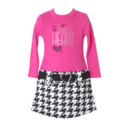 Pinky Houndstooth Marsha Dress - Preschool Girls 4-6x