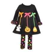 Bonnie Jean® Halloween Tunic and Leggings - Preschool Girls 4-6x